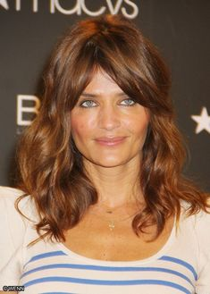 Helena Christensen. THE. BEST. HAIR...and color