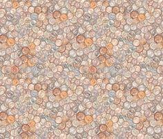 Vintage American Coins fabric by joyfulrose on Spoonflower - custom fabric