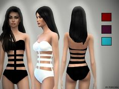 The Sims Resource: Bandage Swimsuit by PureSim • Sims 4 Downloads