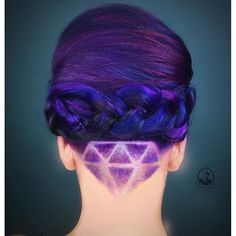 Braided UpDo with Diamond Undercut Design