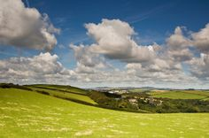Rolling fields in Cornwall