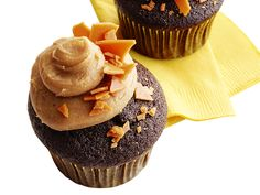 Chocolate-Peanut Brittle Cupcakes Recipe : Food Network Kitchen : Food Network - FoodNetwork.com