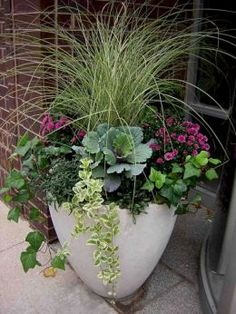 Fall Flower Container Ideas