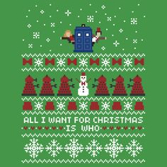 """Doctor Who Ugly Christmas"" T-Shirts & Hoodies by Samantha Smith 