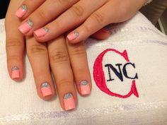 Meia lua com Glitter! #nailart #vemprocheers