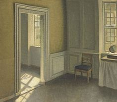 Vilhelm Hammershøi (Danish, 1864-1916) Bedroom, Strandgade 30 oil on canvas 23½ x 26½ in (59.5 x 67.5 cm.) Painted in 1906
