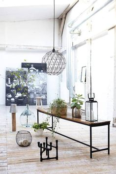 Great Wire Globe Light And Industrial Accents | Lighting: Housedoctor Via  The Scandinavian Side Of