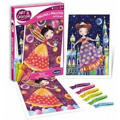Art and créations colora con brillantini principesse Arty Toys, Glitter Art, Craft Kits, Bee, Xmas, Crafts, Amazon Fr, Products, Notebooks