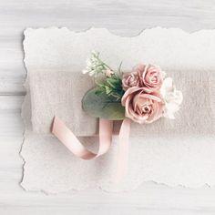 Flower wrist corsage bridesmaides corsage flower by SERENlTY