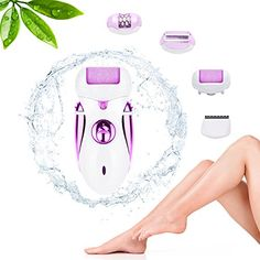 Scheam 4 in 1 Rechargeable Electric Callus Remover Pedicure Foot Care File Tool Lady Shaver Epilator Hair Clipper Womens Trimmer Hair Removal Hair Cutting Device -- To view further for this item, visit the image link.