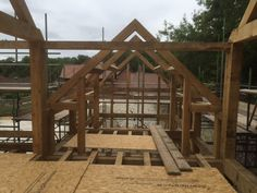 Oak frame detached dwelling, on site in Wiltshire. By Roderick James Architects, and Country Oak Buildings.
