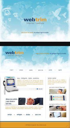 Criação website Webtrim [www.webtrim.com.br - o website pode ter sofrido alterações de layout/conteúdo depois de finalizado]