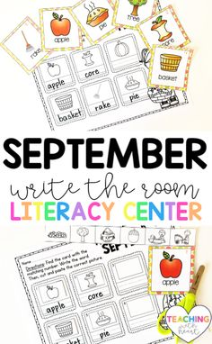 Looking for a kindergarten literacy center that your kids will love? With September Write the Room, your kids will get up and moving to find the September themed cards posted around your classroom. They'll record what they find on one of the four differentiated recording sheets. This is a literacy center that your kids will BEG to play each month! Writing Resources, Teaching Writing, Teaching Ideas, Primary Classroom, Elementary Teacher, Kindergarten Literacy, Literacy Centers, Recording Sheets, Word Pictures