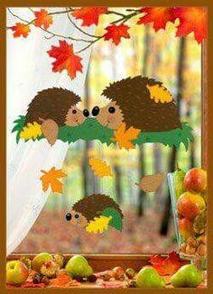Risultati immagini per herbst paper craft Decoration Creche, Class Decoration, School Decorations, Autumn Crafts, Autumn Art, Christmas Crafts For Kids, Kids Crafts, Diy And Crafts, Paper Crafts