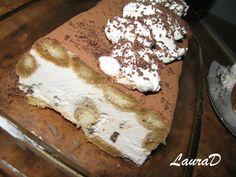 Tort de inghetata Tiramisu Tiramisu, Parfait, French Toast, Ice Cream, Breakfast, Ethnic Recipes, Food, No Churn Ice Cream, Morning Coffee