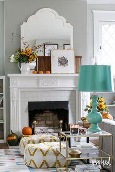 Inspired by Charm Fall Home Tour 2015 / #FindingFallHomeTour #fall #decor