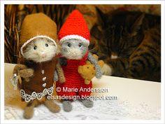 Wee little crocheted mice.