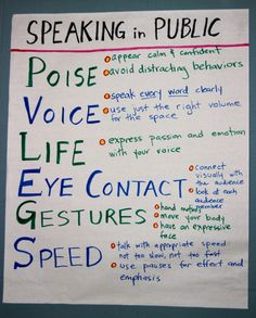 PVLEGS: A Public Speaking Acronym that Transforms Students - Dave Stuart Jr. Public Speaking Activities, Public Speaking Tips, Improve Speaking Skills, Communication Orale, Communication Skills, Student Teaching, Teaching Kids, Student Leadership, Leadership Lessons