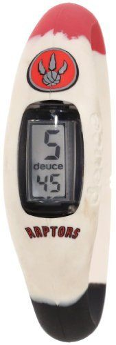 Toronto Raptors Deuce Brand Watch by Deuce Brands. $29.99. LCD screen display. Surgical-grade silicone. Deuce Brand Watch. Water resistant. Vibrant team colors. Remember what time the game is with this Toronto Raptors Deuce Brand Watch. This Raptors watch is water resistant and features an LCD screen display. Prepare for gameday with this one-of-a-kind piece of Raptors team gear.