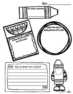 Mme Marie-Julie : Rébellion chez les crayons Teaching French, Teaching Writing, Writing Prompts, Crayon Book, French Practice, French For Beginners, School Labels, More Words, Beginning Of School