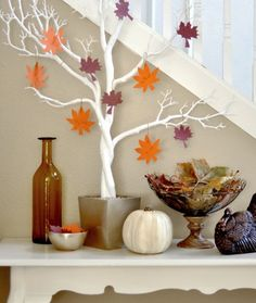 Make a thankful tree to show what you and your family are thankful for this Thanksgiving.