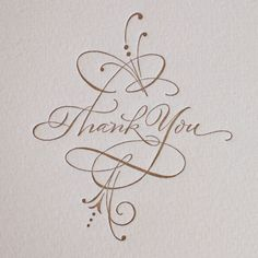 PG342-THANK YOU CALLIGRAPHY...