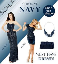 Color me NAVY, shop the shade with these amazing styles! www.scalausa.com