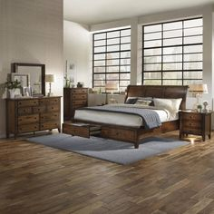 Camden Chestnut Wood 6-piece Storage Bedroom Set - Overstock™ Shopping - Big Discounts on Emery Park Bedroom Sets