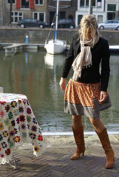 Outfit und Tischdecke