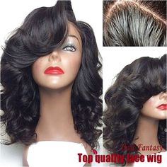 Cheap lace wig with bangs, Buy Quality glueless full lace wigs directly from China full lace wig Suppliers: Hot glueless Full Lace Wig with bang Raw Indian Remy Human Hair Body Wave Lace Front Wigs with bang Virgin Hair Wave lace Wigs Synthetic Lace Front Wigs, Synthetic Wigs, Lace Wigs, Body Wave Wig, Loose Waves Hair, Wave Hair, Natural Hair Styles, Long Hair Styles, Wigs With Bangs