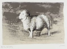 Henry Moore OM, CH 'Sheep in Stormy Landscape', 1974 © The Henry Moore…