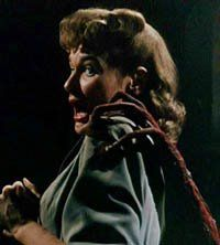 A study in terror. The beautiful Ann Robinson from The War of the Worlds (1953) http://scififilmfiesta.blogspot.com.au/