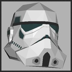 Star Wars - Stormtrooper Head Sculpture Free Papercraft Download - http://www.papercraftsquare.com/star-wars-stormtrooper-head-sculpture-free-papercraft-download.html