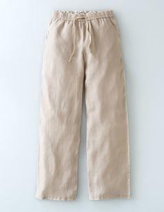 Lottie Linen Pant WM423 Pants at Boden