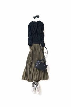Long skirt outfit for Fall Fashion Mode, Minimal Fashion, Modest Fashion, Look Fashion, Skirt Fashion, Daily Fashion, Hijab Fashion, Fashion Outfits, Womens Fashion
