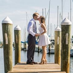 Darling + Stylish Engagement Session with pearls  suspenders at the Pier! *Perfect for our pier pictures!