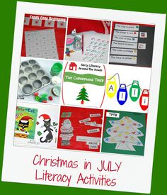 Come celebrate CHRISTMAS in JULY with playful learning just for preschoolers!
