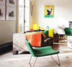 CAPPELLINI - Spring chair in green by Bouroullec brothers