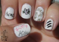 *thinking of Cat Clemente hehe...* Mommy Does Her Nails: Summer Challenge: Day 3 My Favorite Animal
