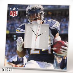 San Diego Chargers Team Wall CLOCK Mirror Frame NFL NFC AFC Collection Fan Gift #IKEA #SanDiegoChargers