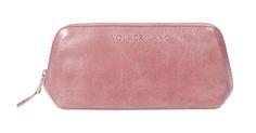 Schminktäschchen Täschchen NC3 GRIMAGE1 vintage altrosa Leder Accessoires mit Reißverschluss kleines Etui für Kosmetik, Stifte, Brille small leather vanity bag