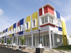 Medan, Shop House Plans, Semarang, Modern Minimalist, Multi Story Building, Construction, House Design, Mansions, How To Plan