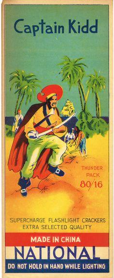 Captain Kidd Firecracker Brick Label  -Original (2476 x 6014)