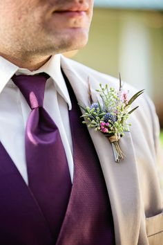 Purple & Blue|Colorful Vintage Boho Chic Fall Wedding Inspiration|Photographer: Caroline Z Photography