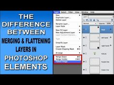 Flatten and Merge Layers in Photoshop Elements — What's the Difference?