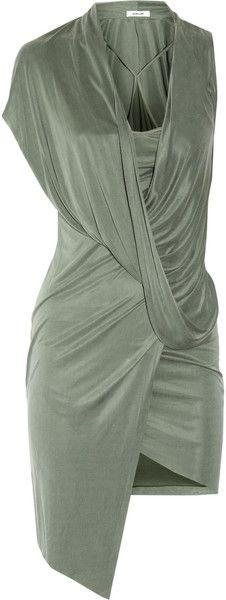 Helmut Lang ~ Shale Draped Satinjersey Dress