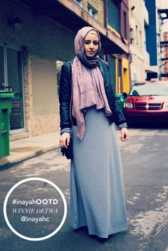 SPOTTED : Fashion Blogger Winnie Detwa wearing the Grey Long Pencil Cut Dress | INAYAH www.inayahcollection.com #inayah#abaya#modestfashion