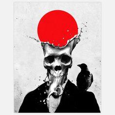 Splash Skull Print 11x14 now featured on Fab.