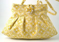 yellow small and sexy  bag made from italian tapestry by daphnenen, $65.00
