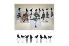 PUHLMANN ( プルマン社 ) BIRD CLIP ( バードクリップ ) 小鳥 8個セット - ライフスタイルデザインストア[FreePark]